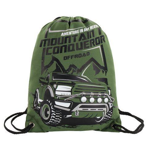 Мешок для обуви BRAUBERG PREMIUM, карман, подкладка, светоотражающие элементы, 43х33 см, Mountain conqueror, 270286