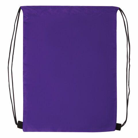 Мешок для обуви BRAUBERG ПРОЧНЫЙ, на шнурке, фиолетовый, 42x33 см, 270288