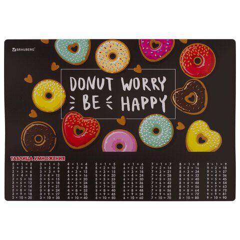 "Настольное покрытие BRAUBERG, А3+, пластик, 46x33 см, ""Donut"", 270399"