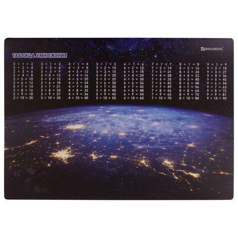 "Настольное покрытие BRAUBERG, А3+, пластик, 46x33 см, ""Space"", 270402"