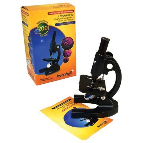 Микроскоп учебный LEVENHUK 2S NG, 200 кратный, монокулярный, 1 объектив, 25648