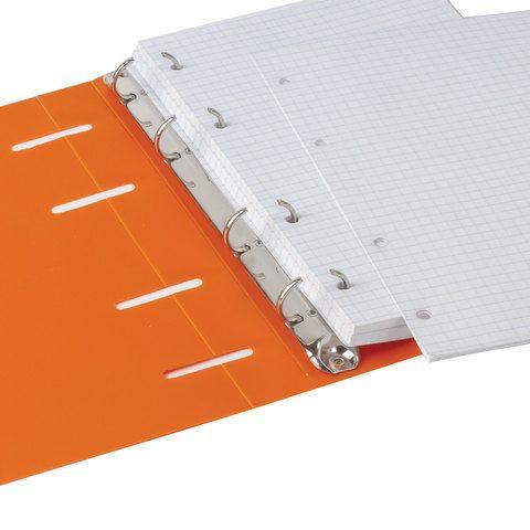 "Тетрадь на кольцах А5 (160х215 мм), 80 л., пластиковая обложка, клетка, BRAUBERG, ""Оранжевый"", 403253"