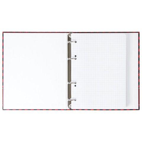 """Тетрадь на кольцах А5 (175х215 мм), 120 л., картонная обложка, клетка, глянцевая ламинация, BRAUBERG, """"Шотландка"""", 403274"""