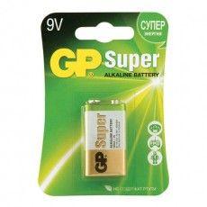 "Батарейка GP Super, ""Крона"" (6LR61, 6LF22, 1604A), алкалиновая, 1 шт., в блистере, 1604A-BC1"