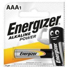 Батарейка ENERGIZER Alkaline Power, AAA (LR03, 24А), алкалиновая, мизинчиковая, 1 шт., в блистере (отрывной блок), Е300140400