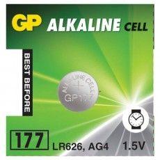 Батарейка GP Alkaline 177 (G4, LR626), алкалиновая, 1 шт., в блистере (отрывной блок), 177-2CY, 4891199026690