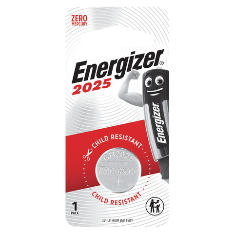Батарейка Energizer, CR 2025, литиевая, 1 шт., в блистере, E301021601
