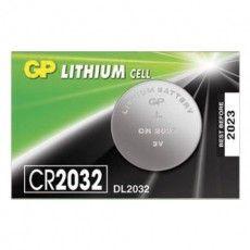 Батарейка GP Lithium, CR2032, литиевая, 1 шт., в блистере (отрывной блок), CR2032-7C5, CR2032-7CR5