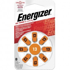 Батарейки для слуховых аппаратов КОМПЛЕКТ 8 шт., ENERGIZER Zinc Air 13, блистер, E301431601