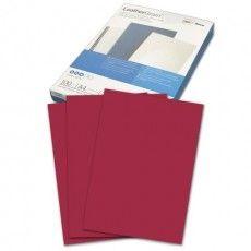 Обложки картонные для переплета А4, КОМПЛЕКТ 100 шт., тиснение под кожу, 250 г/м2, темно-красные, GBC, 040031/4401982