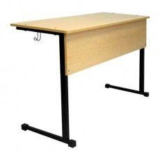Стол-парта ученический 2-местный нерегулируемый, 760х1200х500 мм, рост 6, цвет бук, ПШ2/13А бук