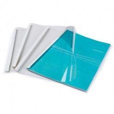 Обложки для термопереплета, А4, КОМПЛЕКТ 100 шт., 8 мм, 61-80 л., верх прозрачный ПВХ, низ картон, FELLOWES, FS-53912