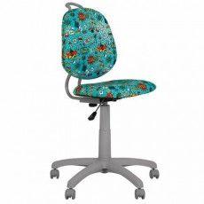 """Кресло детское """"VINNY GTS"""" без подлокотников, бирюзовое с рисунком"""