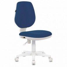 "Кресло BRABIX ""Fancy MG-201W"", без подлокотников, пластик белый, синее, 532413, MG-201W_532413"