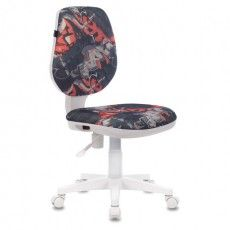 """Кресло BRABIX """"Fancy MG-201W"""", без подлокотников, пластик белый, с рисунком """"Graffity"""", 532415, MG-201W_532415"""