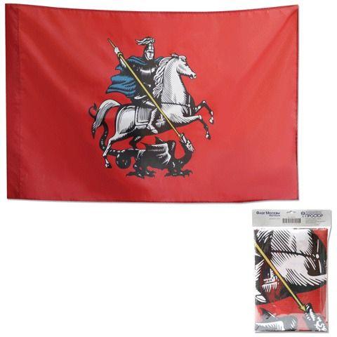 Флаг Москвы, 90х135 см, карман под древко, упаковка с европодвесом