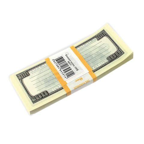 """Блок для записей """"100 долларов"""", проклеенный, 15х6х1 см, NH0000013"""
