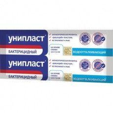 Лейкопластырь бактерицидный УНИПЛАСТ, полоска 2,5х7,2 см, пленочная основа, 20024391